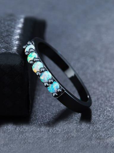 Black Opal Stone Ring