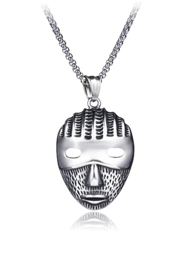 Stainless Steel With Antique Silver Plated Personality  Pharaoh mask  Necklaces