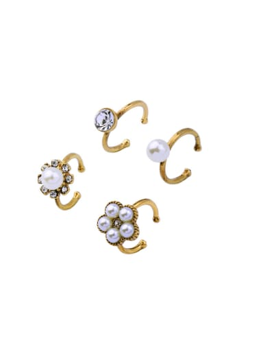 Simple Opening Ring Four Pieces Set