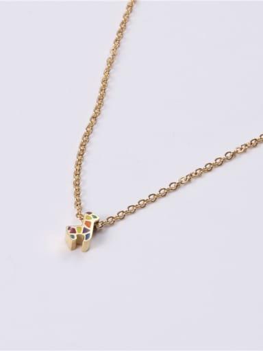 Titanium With Gold Plated Simplistic Irregular Necklaces