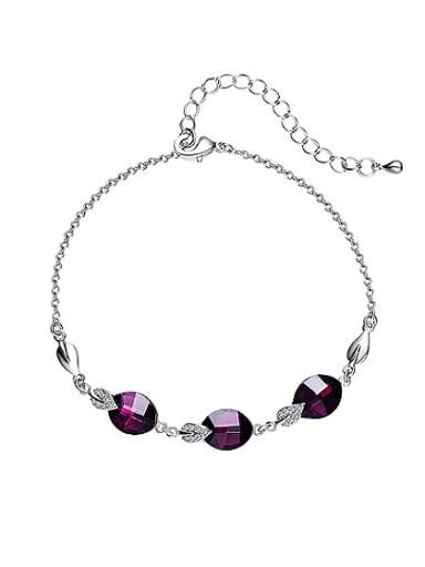 Water Drop Shaped Crystal Bracelet