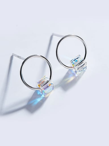S925 Silver Round Shaped hoop earring