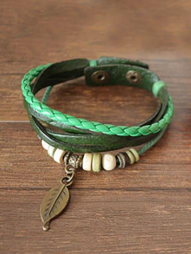 Retro Unisex Cownhide Leather Bracelet