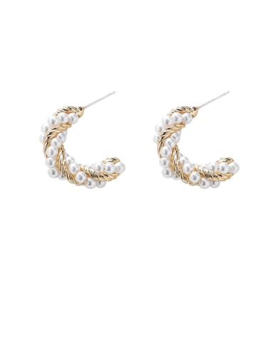 Alloy With Imitation Gold Plated Simplistic Irregular Stud Earrings