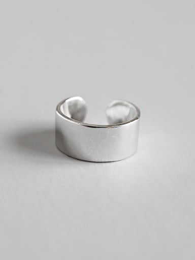 925 Sterling Silver With Silver Plated Simplistic Clip On Earrings