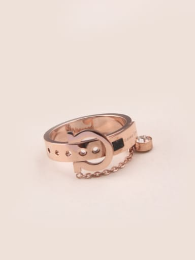 Creative Buckle Rose Gold Ring