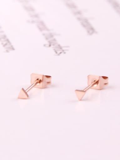 Small Triangle Women Stud Earrings