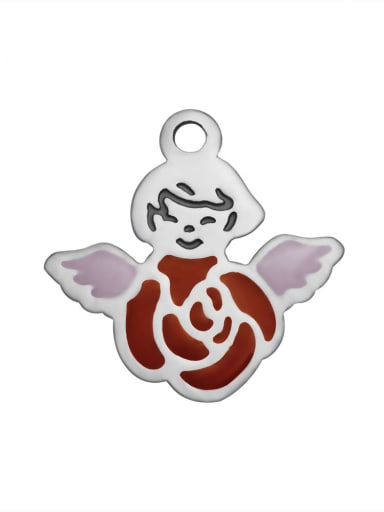 Stainless Steel With Cute Angel enamel  Charms