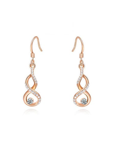 Exquisite Gourd Shaped Austria Crystal Stud Earrings