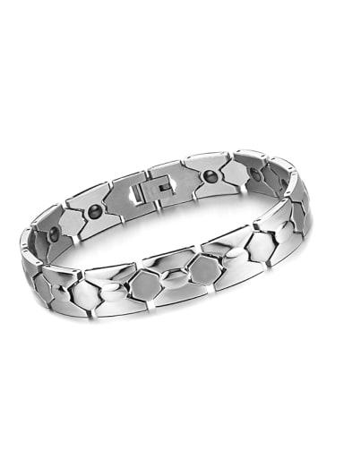Simple Cubic Magnets Titanium Men Bracelet