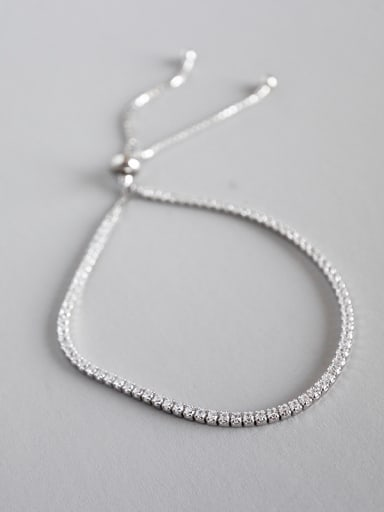 Sterling Silver Rhinestone regulating bead chain