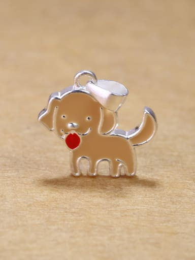 Simple Little Puppy Dog 925 Silver Women Pendant