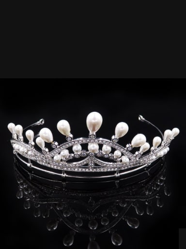 Artificial Pearls Noble Micro Pave Zircons Hair Accessories