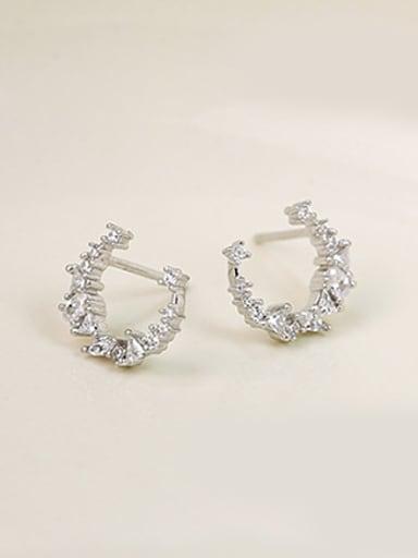 Little Moon Zircon Stud Earrings