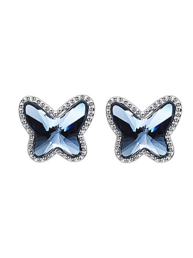 S925 Silver Butterfly-shaped stud Earring