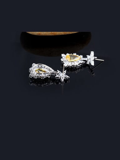 European And American Luxury Dinner Zircon Stud Cluster earring