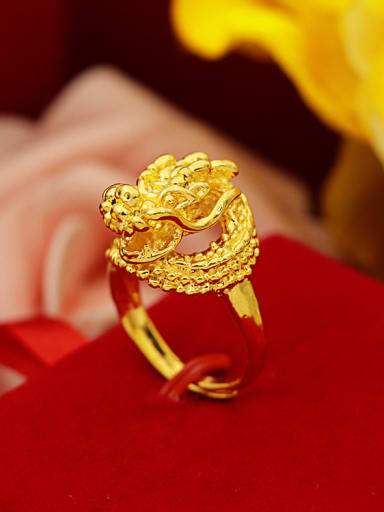 24K Gold Plated Dragon Shaped Ring