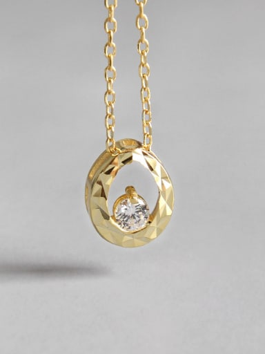 925 Sterling Silver With 18k Gold Plated  Water Drop Necklaces