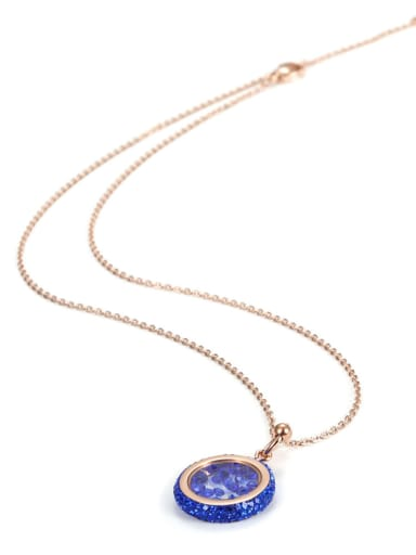 Europe And The United States Rose Gold Titanium Crystal Custom Necklace