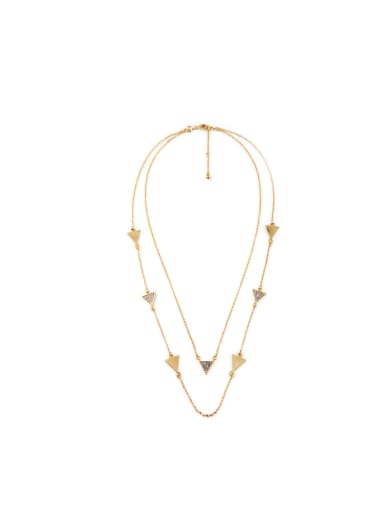 Small Triangle Simple Long Necklace