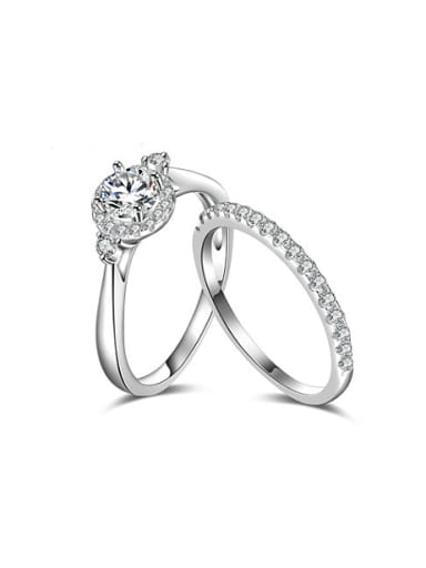 Charming Round Shaped Zircon Set Ring