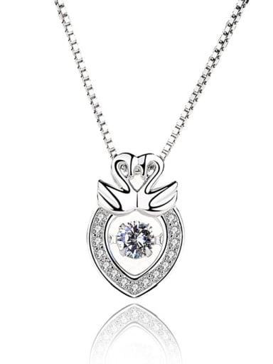 Korean Style Noble Wings Silver Pendant