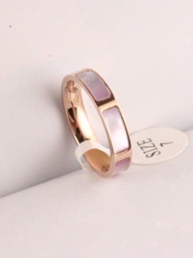 Color Shell Titanium Fashion Ring