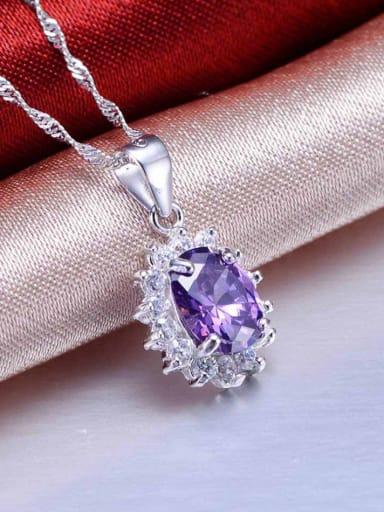 Purple Zircon Pendant