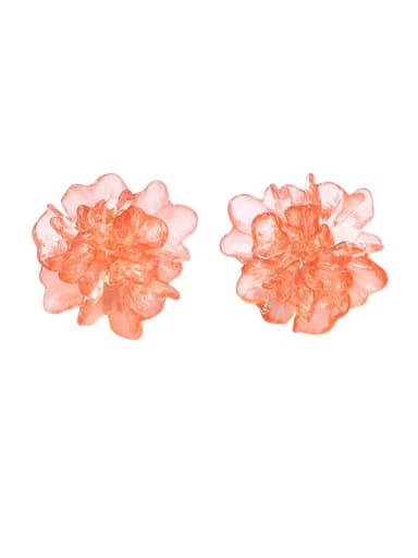 Alloy With Rose Gold Plated Cute Flower Stud Earrings