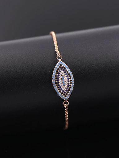 2018 2018 Eye Shaped Copper Bracelet