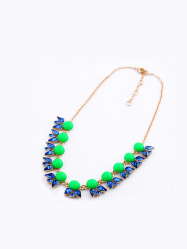 Alloy Artificial Stones Short Necklace