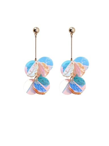 Alloy With Rose Gold Plated Bohemia Round Drop Earrings