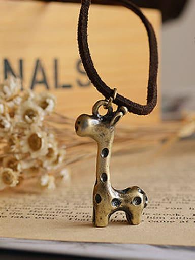 Women Cute Deer Shaped Necklace