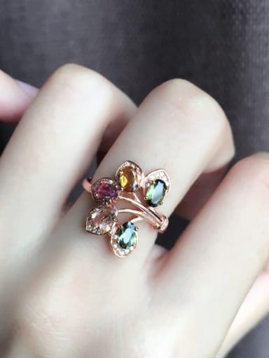 Multi-color Gemstones Petals Statement Ring