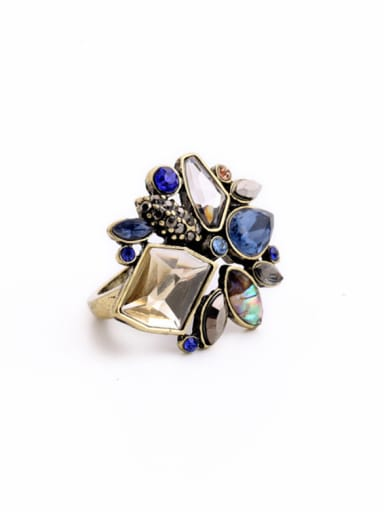 Fashion Colorful Stones Alloy Statement Ring