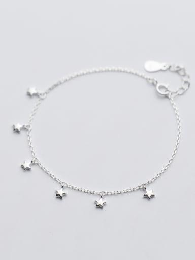 Adjustable Length Star Shaped S925 Silver Bracelet