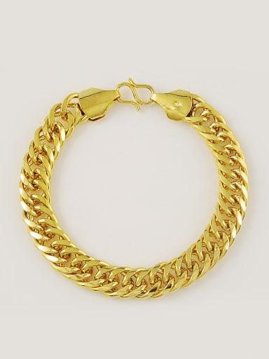 Men Delicate 24K Gold Plated Geometric Shaped Bracelet