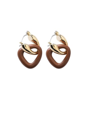 Alloy With Gold Plated Simplistic Geometric Clip On Earrings