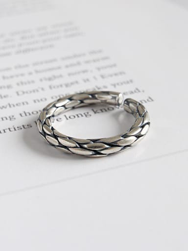 Sterling Silver personalized retro  free size rings