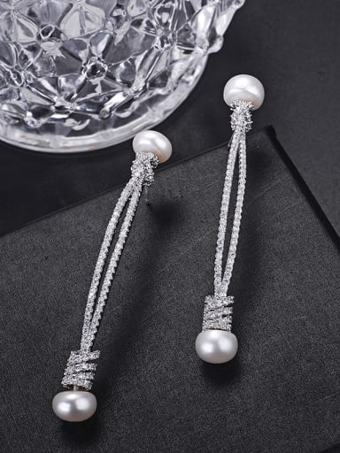 New type of zircon cords to imitate Pearl Earrings