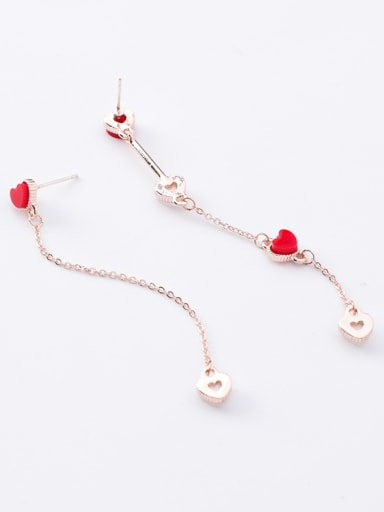 Alloy With Rose Gold Plated Simplistic Shell Heart Earrings