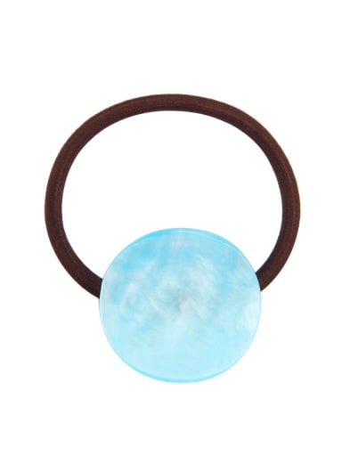 Water blue Rubber Band With Cellulose Acetate Simple Round ShapedHair Ropes Hair Ropes