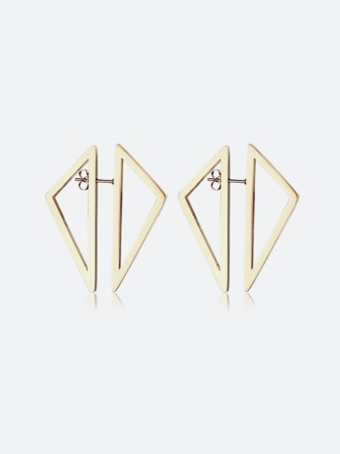 Trendy geometric triangle stainless steel earrings