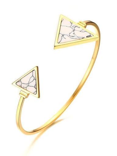 Triangular stainless steel open Bracelet