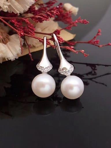 Fashion Freshwater Pearl Fan-shaped drop earring