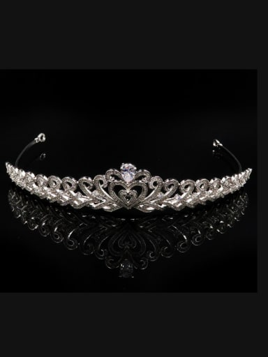 Luxury Micro PAVE Zircons Hollow Heart-shape Hair Accessories