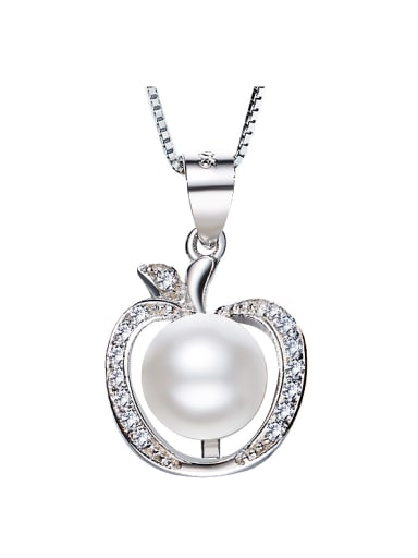 2018 2018 2018 S925 Silver Pearl Necklace
