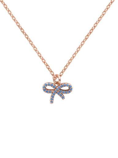 Small Bow Shaped Fashion Women Clavicle Necklace