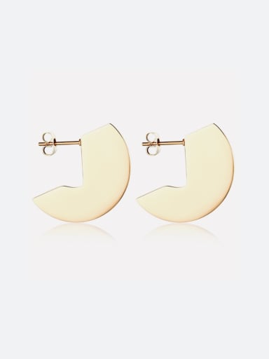 Simple geometric Stainless Steel Gold Earrings