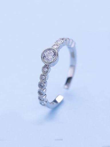 925 Silver Shimmering Zircon Ring